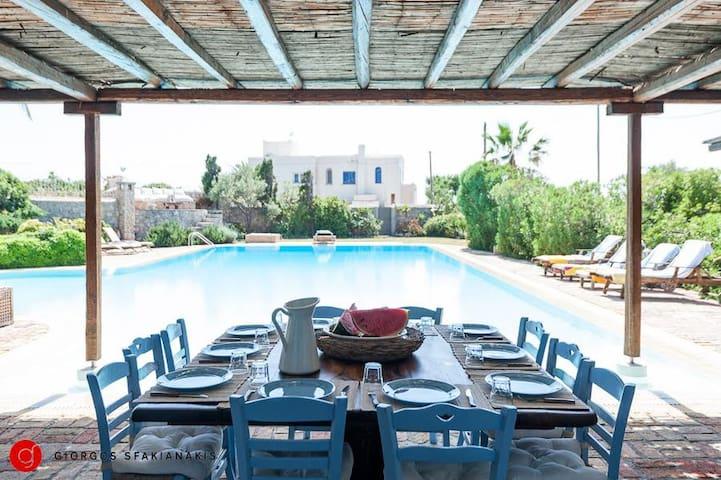 Amazing villa at Aigina island - Nisi - Casa de campo