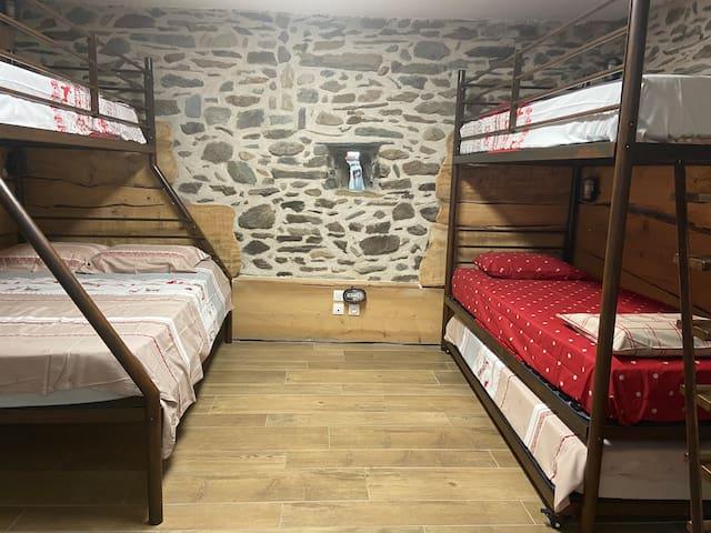 Le dortoir 6 couchages