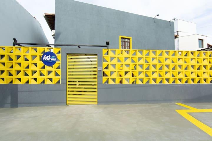 Flat moderno e bem localizado em Ponta Negra (Art Homes)