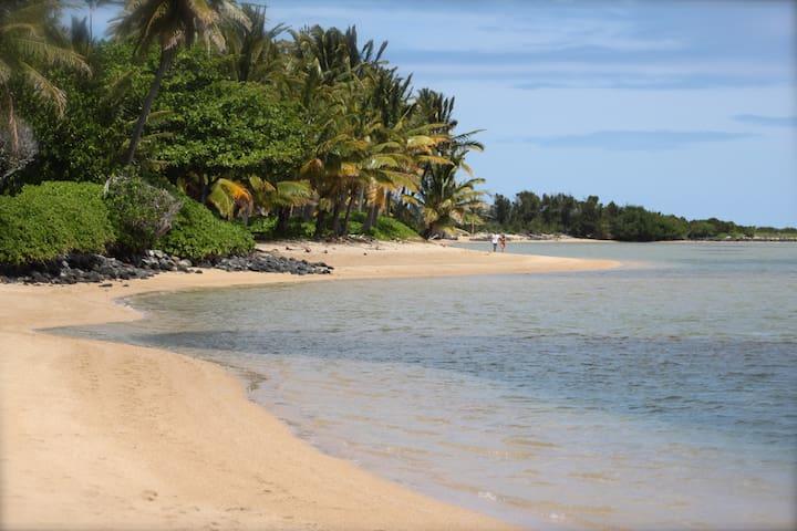 Peaceful, Artful Home - White Sandy Beach