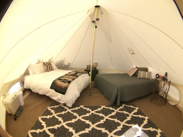 Glamping in Canvas Tent at Wakeside Lake near BYUI - Rexburg - Tent