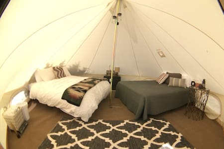 Glamping in Canvas Tent at Wakeside Lake near BYUI - Rexburg