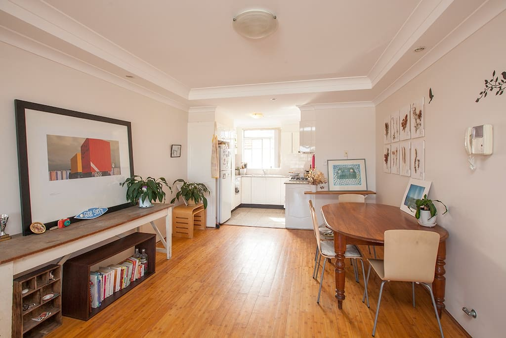 Open plan living, with lots of light.