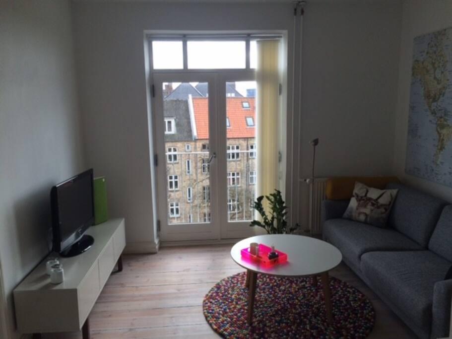 Stue med udsigt over Aarhus C