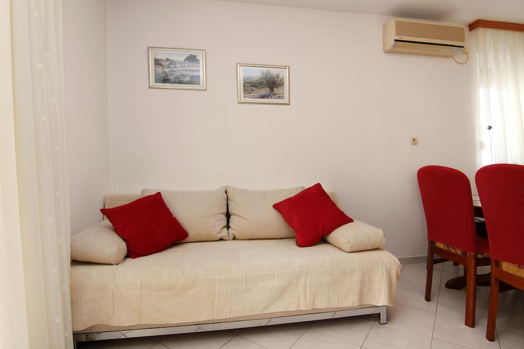 Living room with sofa (bed for 2 persons)