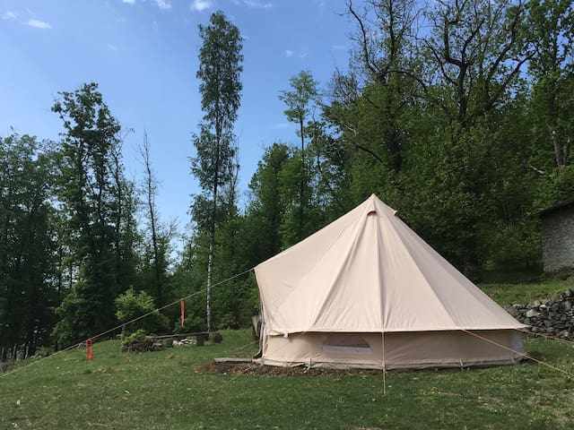 Esperienza nella tenda in Canvas