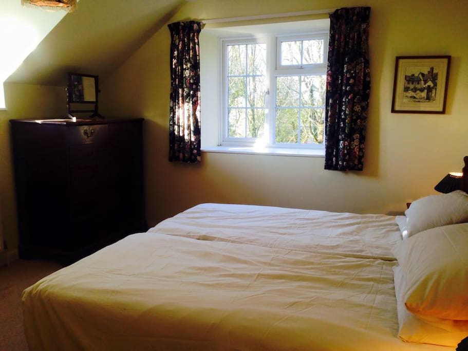 Double aspect Twin Room with stunning views
