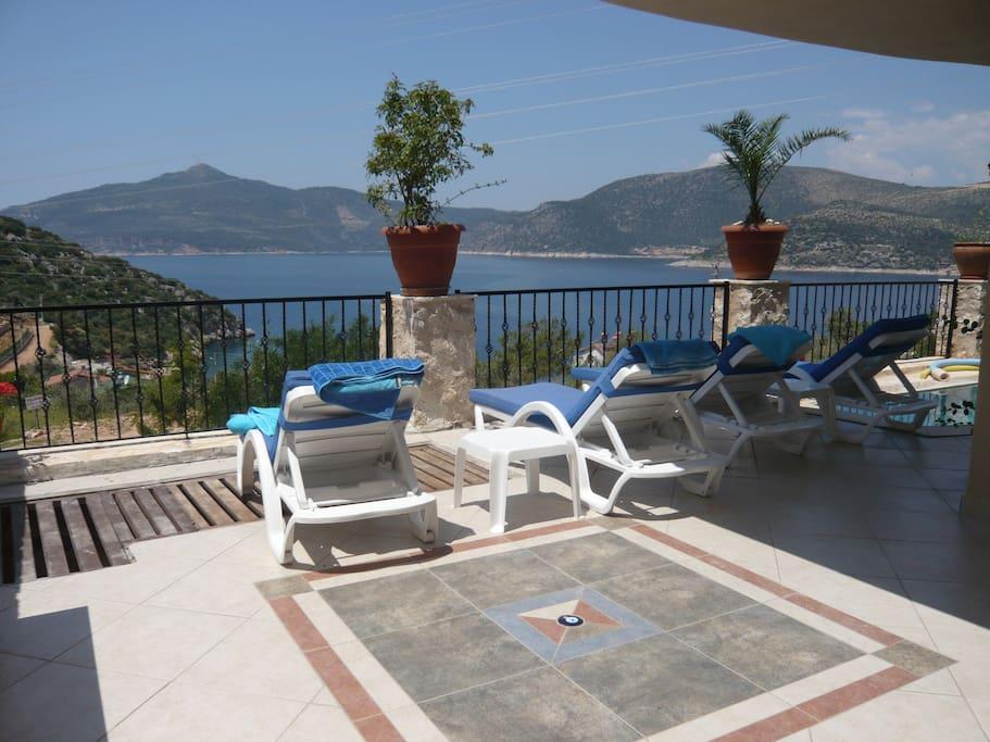 The pool terrace Villa Amare