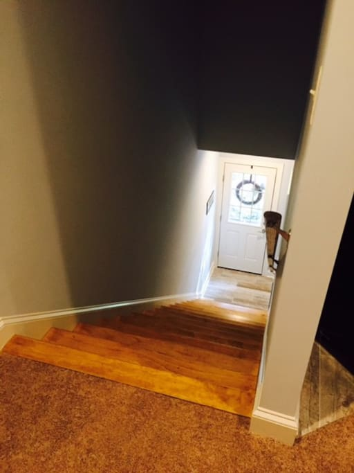 Private entrance to second floor apartment