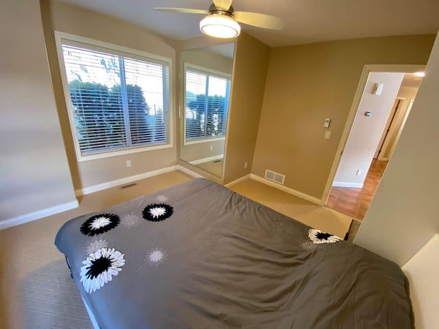 Bedroom #3 on Main level.  Queen size mattress.