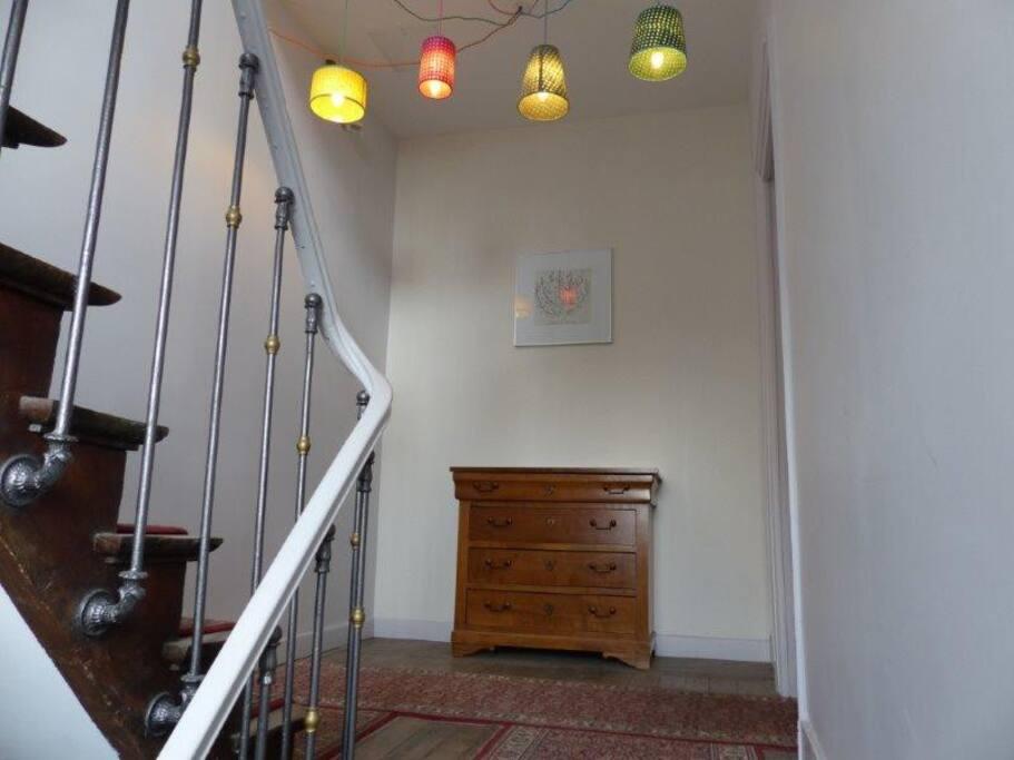 Escalier pour accéder à l'appartement