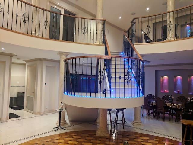 Private Living Room, Shared Staircase