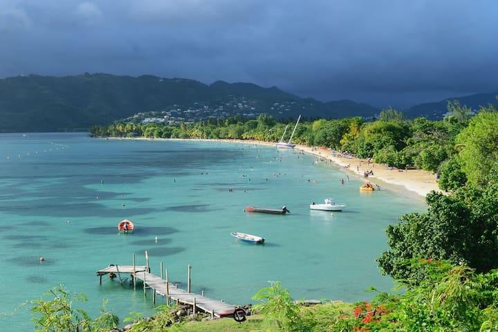 """Plage """"La Pointe Marin"""" préservée des sargasses !"""