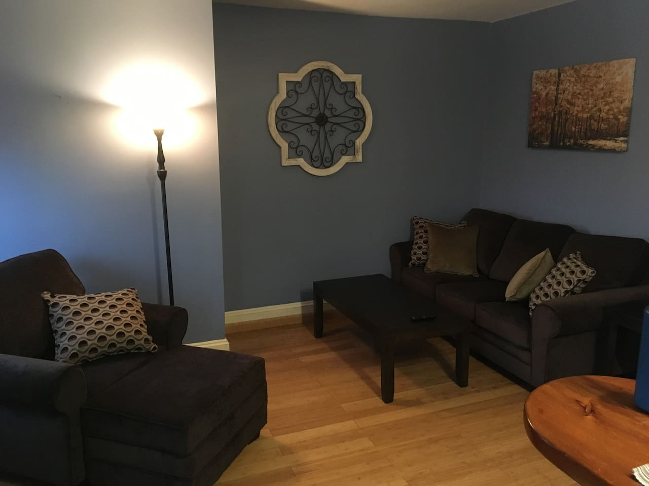 Living space w/ sofa bed