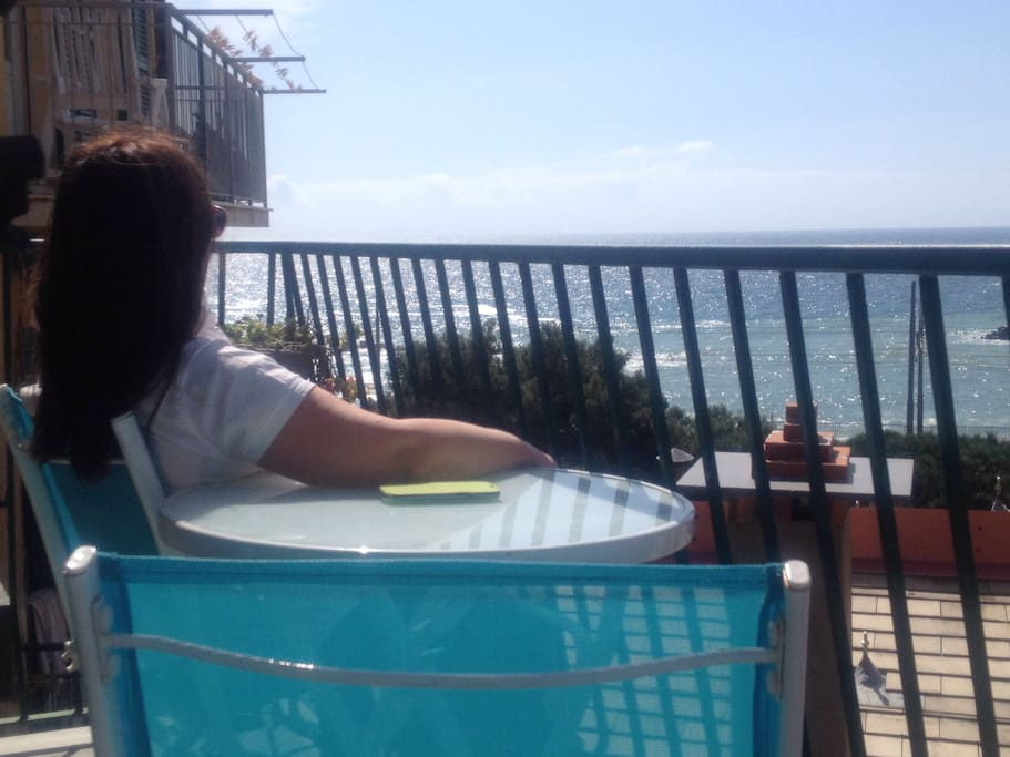 Relax in to the balcony