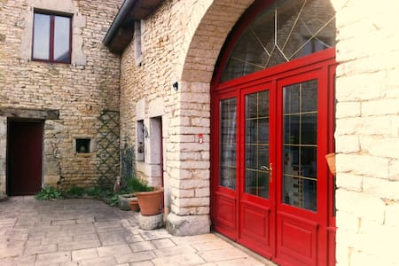 Le Porche Rouge - Chambre 2 Personnes - La Bretenière - Rumah