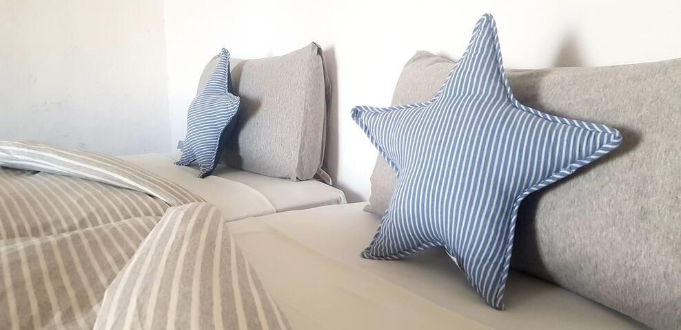 Linens in bedroom