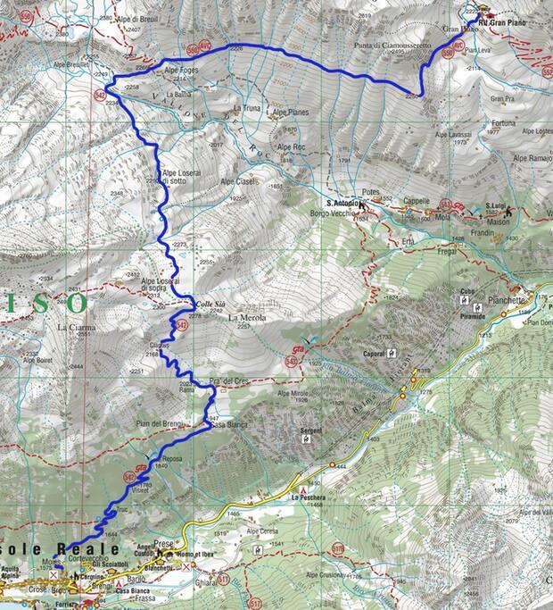 Località di partenza: Borgata Moies (Ceresole Reale - TO) - Rifugio Gran Piano