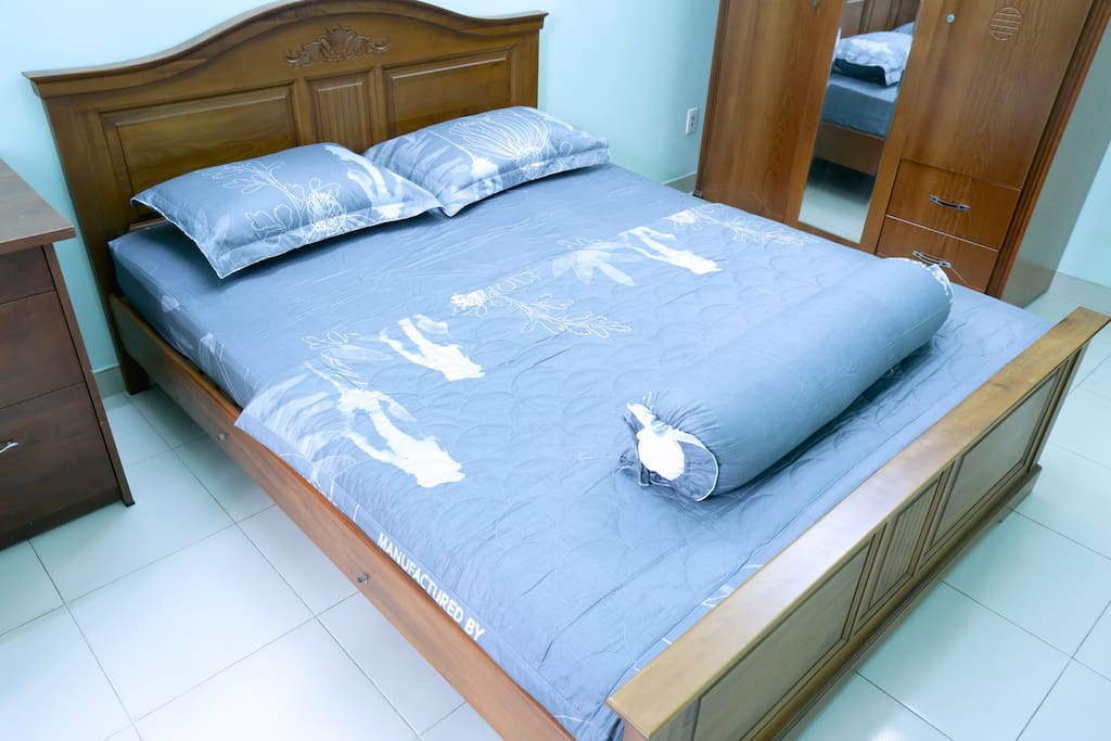 Large bed with the most comfortable mattress