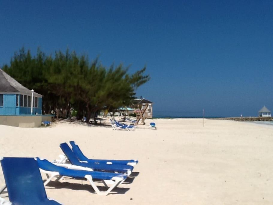 Beach chairs provided