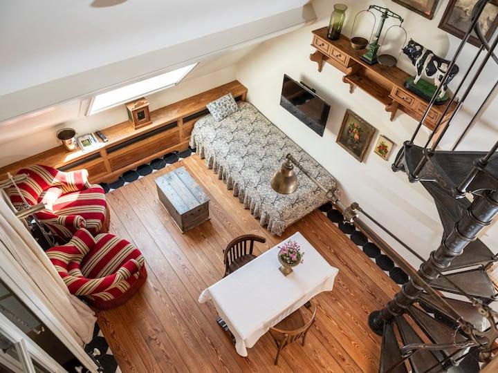 Appartement 1 in een gerestaureerde herenhoeve