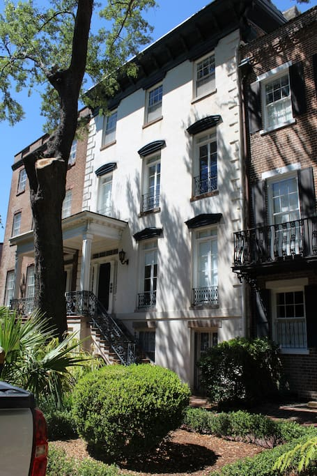 This large family suite apartment is the entire 3rd floor of this gorgeous historic home in Savannah