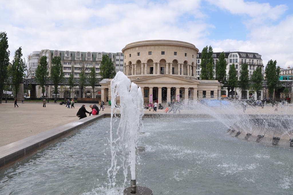 Large open spaces and a cadre de vie agreeable and inexpensive, even for Paris!