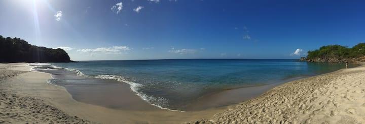 TI KAZ AN NOU vue panoramique mer des caraïbes.