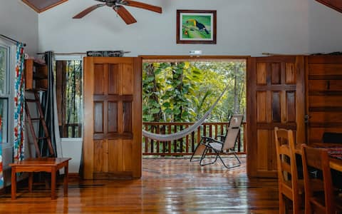 Jungle view cabin#1 w/ car rental GOLD STANDARD