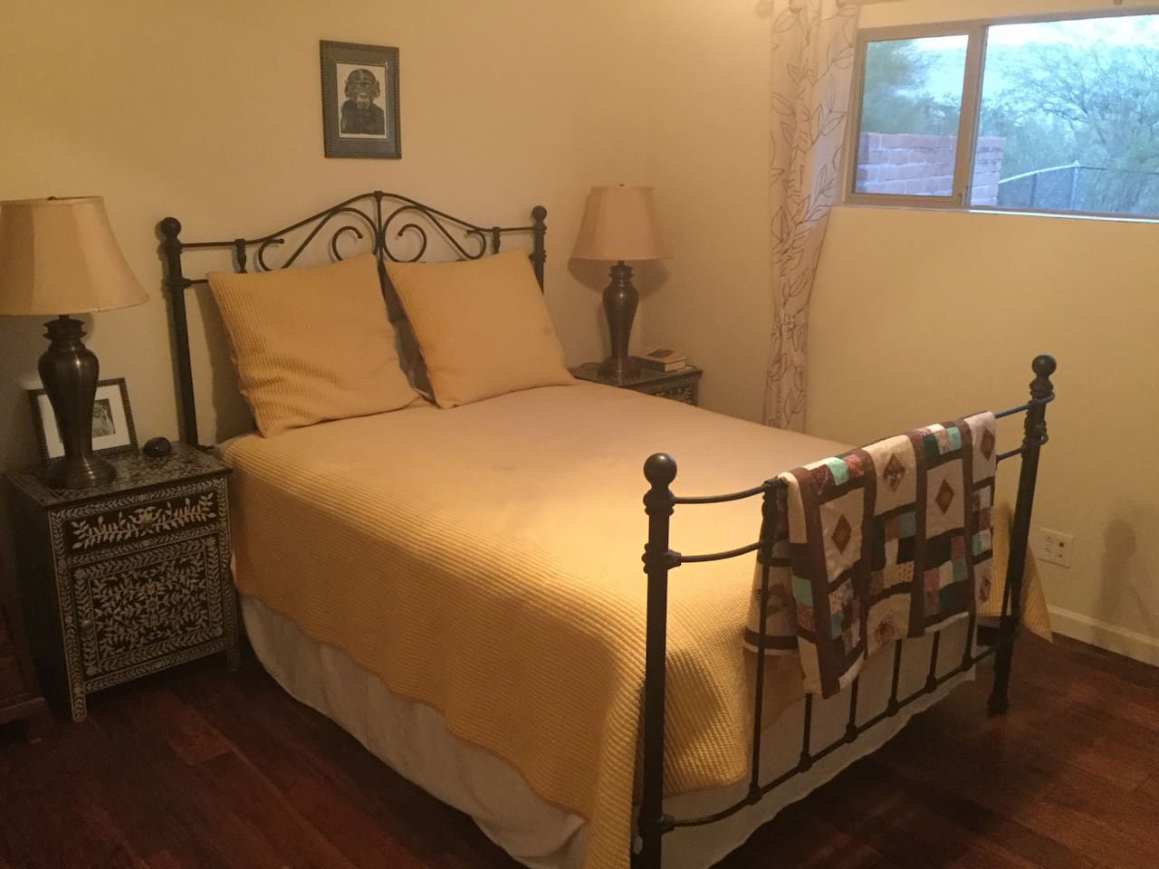 Guest Room, with queen size bed and closet.