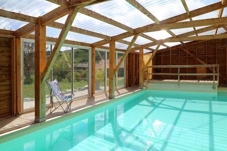 gite de groupe piscine à l année - SAINT CHRISTOPHE D ALLIER - Hus
