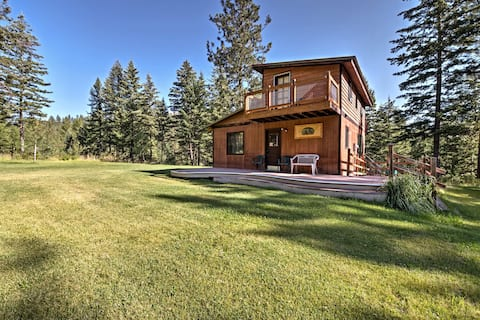 Concoy Cabin on 42 Private Acres Near Hiking!
