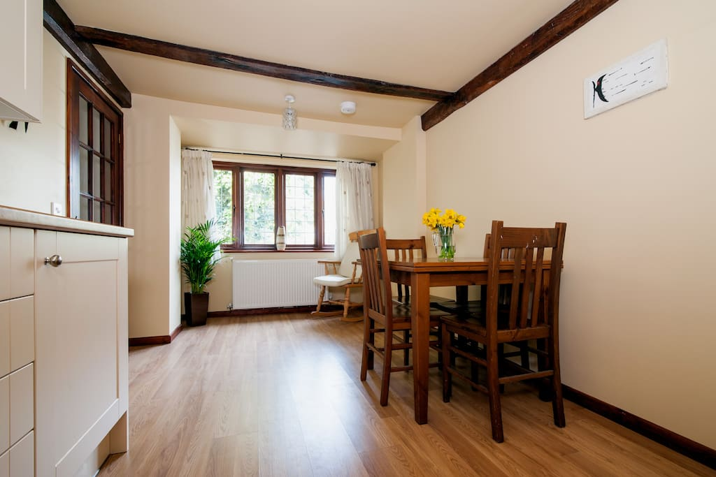 Large spacious area to cook, eat and chat about your day.