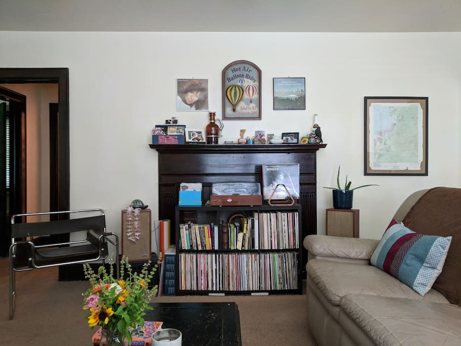 living room. you are more than welcome to use the turntable