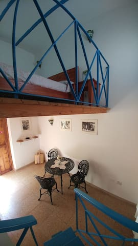 Lofted room for 2 guests at Ca'Sita B&B, lower and upper side