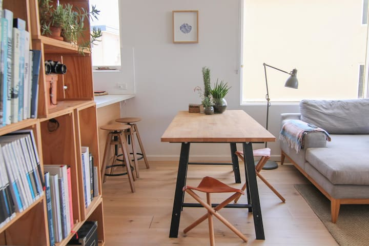 Dining table and/or work station