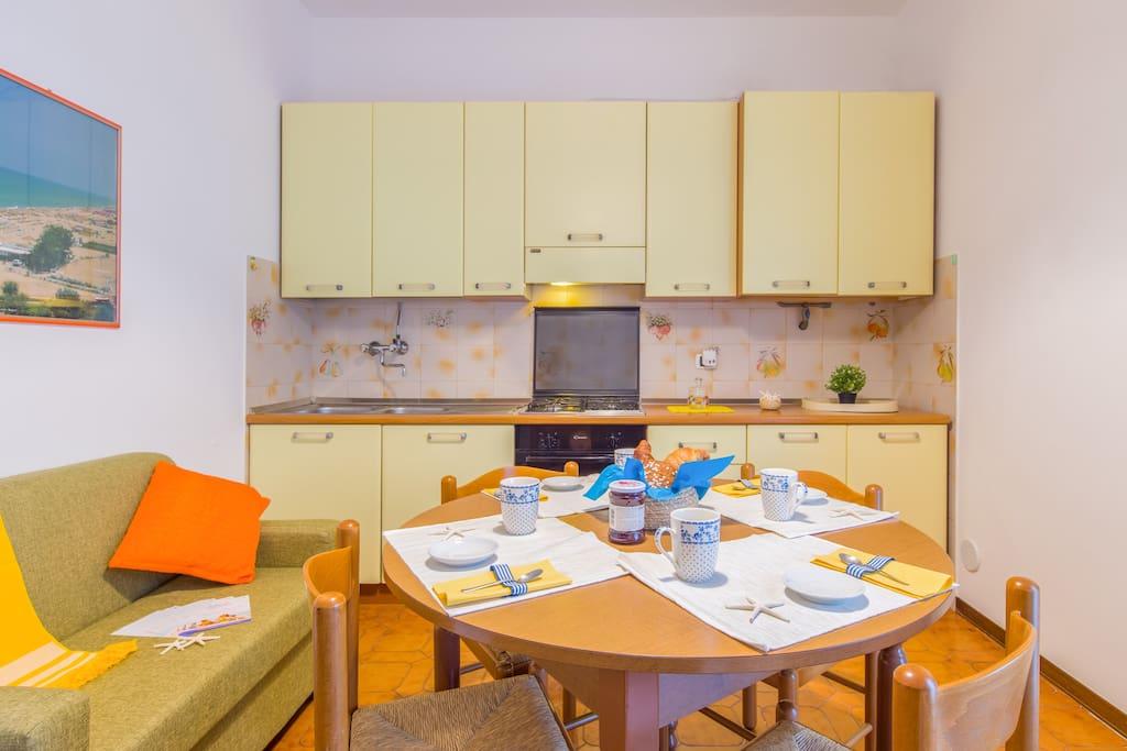 soggiorno, cucina