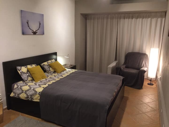 Spacious room in peaceful Olomouc suburb