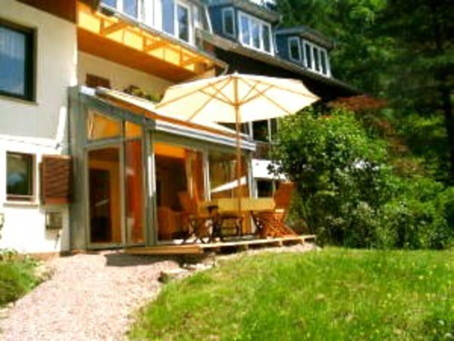 casa alma sonnige wintergarten parterrewohnung. Black Bedroom Furniture Sets. Home Design Ideas