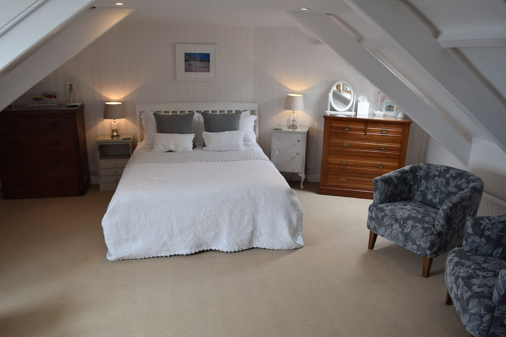 The Upper Deck bedroom with king size bed