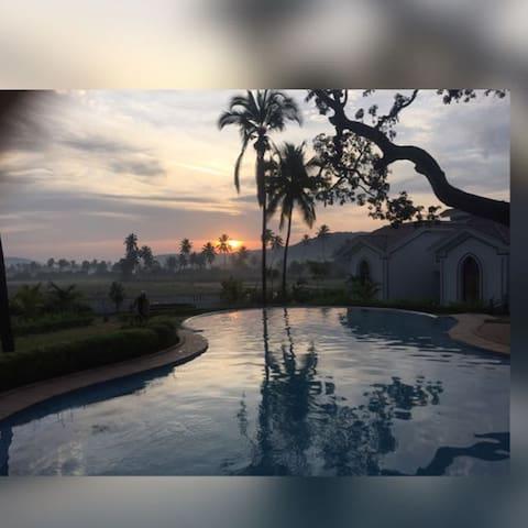 Villa Riviera Sapphire Panaromic view - Siolim - Villa