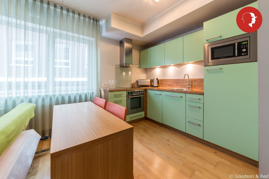Well-equipped kitchen area