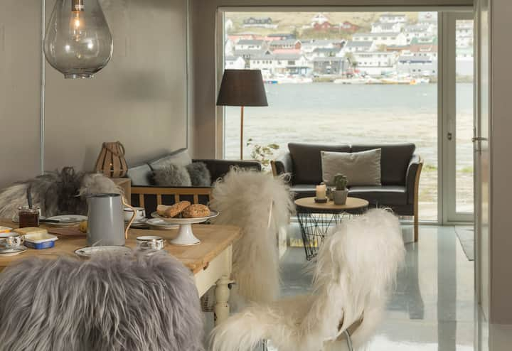 Bådhus i Klaksvík ombygget til hyggelig hybel