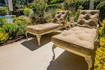Luxurious pool loungers