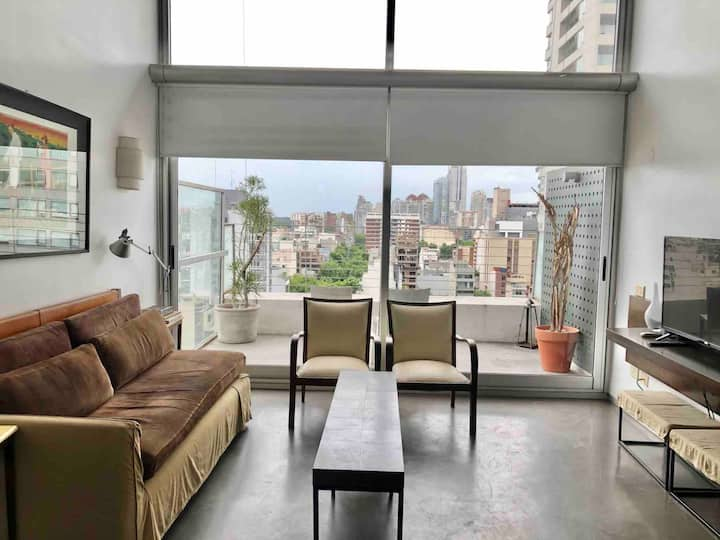 Bright Loft with pool in Palermo Hollywood