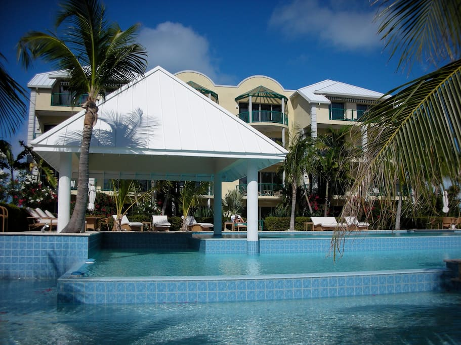 private pool of the Yacht Club