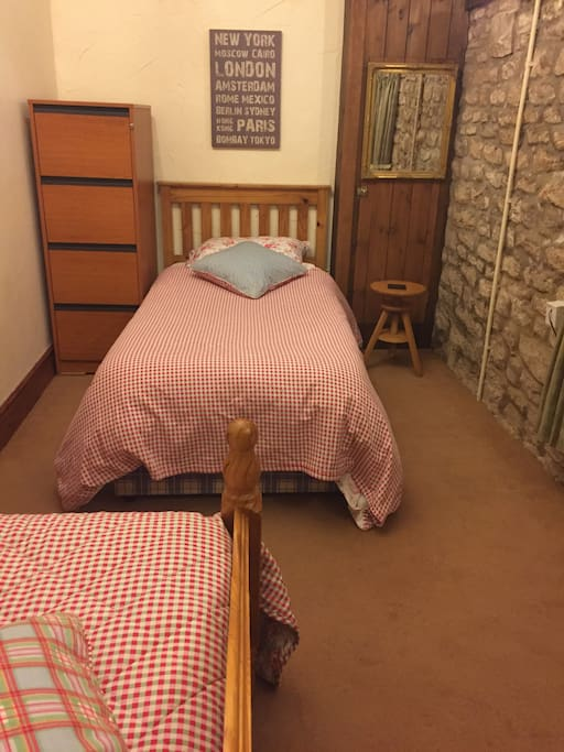 Room for up to three people.  Room for a double air bed on the landing if required at an extra cost of £10 per person.