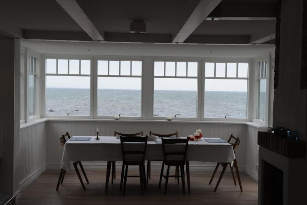 dinner table with sea view