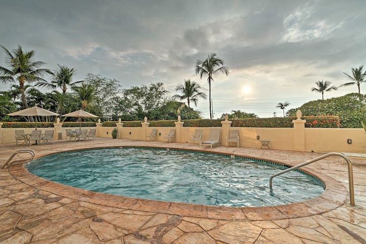Spend balmy days lounging by the resort's outdoor swimming pool.