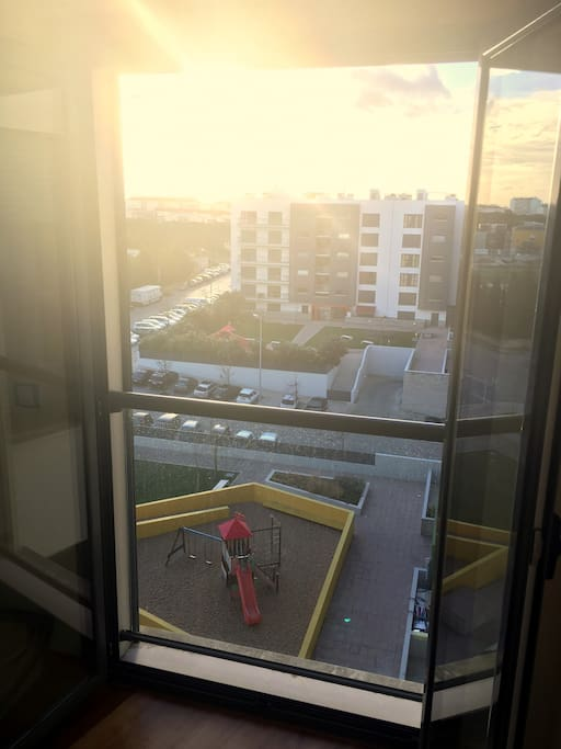 View of your room, where the sun sets (6th floor)